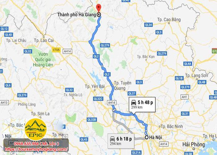 Di Tu Ha Noi Len Ha Giang Bao Nhieu Km 1